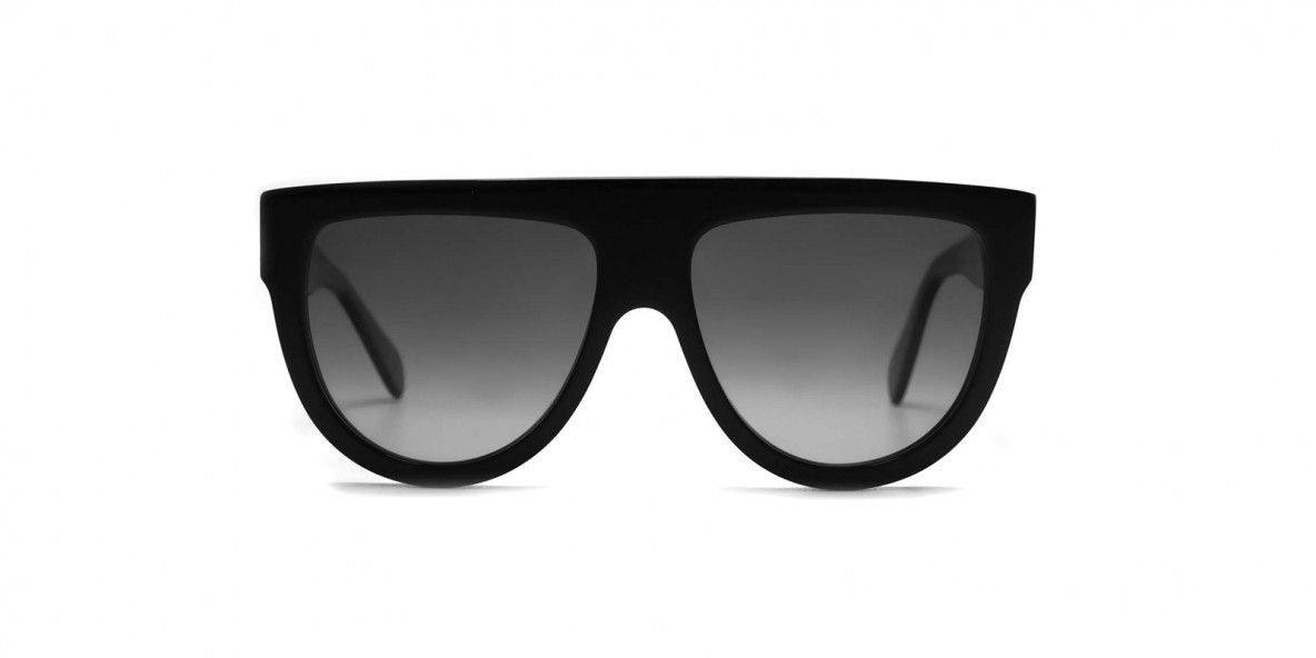 Celine Sunglass CL4001FN 01D 60 عینک آفتابی سلین 4001 مربعی 60 میلی متری عدسی دودی و فریم کائوچوی مشکی  عینک نور