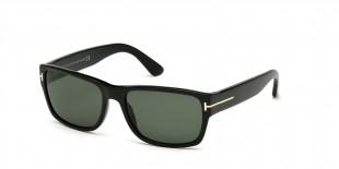 TomFord Sunglass FT0445 01N عینک آفتابی تام فورد 0445 مربعی 58 میلی متری عدسی سبز و فریم کائوچو مشکی  عینک نور