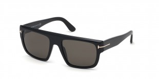 TomFord Sunglass FT0699 01A عینک آفتابی تام فورد 0699 مربعی 57 میلی متری عدسی دودی و فریم کائوچو مشکی  عینک نور