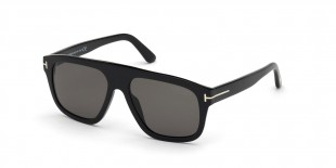TomFord Sunglass FT0777 01D عینک آفتابی تام فورد 0777 مربعی 56 میلی متری عدسی دودی و فریم کائوچو مشکی  عینک نور