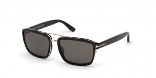 Tom Ford FT0780 01D عینک آفتابی تام فورد 0780 مربعی 58 میلی متری عدسی دودی و فریم کائوچو طلایی مشکی  عینک نور