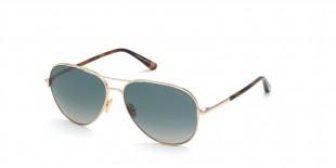 Tom Ford FT0823 28P عینک آفتابی تام فورد 0823 خلبانی 61 میلی متری عدسی سبز و فریم فلزی طلایی  عینک نور