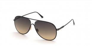 TomFord Sunglass FT0824 01B عینک آفتابی تام فورد 0824 خلبانی 62 میلی متری عدسی دودی و فریم فلزی مشکی  عینک نور