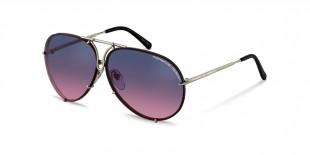 PorscheDesign Sunglass 8478 M عینک آفتابی پورشه دیزاین 8478 خلبانی 66 میلی متری عدسی بنفش و فریم تیتانیوم نقره ای| عینک نور