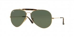 Ray Ban RB3029 181 62 عینک آفتابی ریبن 3029 خلبانی 62 میلی متری عدسی سبز و فریم فلزی طلایی| عینک نور