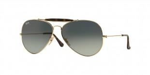 Ray-Ban RB3029 181/71 62 عینک آفتابی ریبن 3029 خلبانی 62 میلی متری عدسی دودی و فریم فلزی طلایی| عینک نور