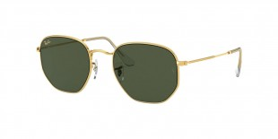 Ray Ban RB3548 919631 51 عینک آفتابی ریبن 3548 خلبانی 51 میلی متری عدسی سبز و فریم فلزی طلایی| عینک نور