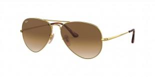 Ray-Ban RB3689 914751 عینک آفتابی ریبن 3689 خلبانی 58 میلی متری عدسی قهوه ای و فریم فلزی طلایی| عینک نور