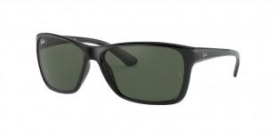Ray Ban RB4331 601/71 61 عینک آفتابی ریبن 4331 مستطیلی 61 میلی متری عدسی سبز و فریم نایلونی مشکی| عینک نور