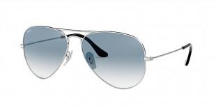 Ray-Ban 3025S 00033F 58 عینک خلبانی نقره ای