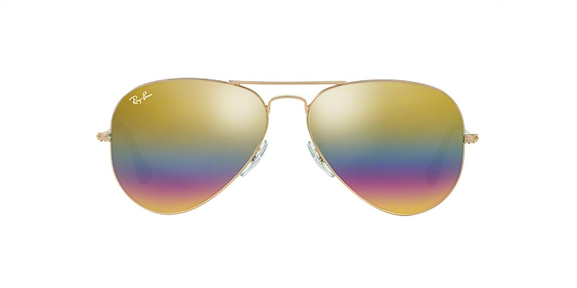 RayBan Sunglass 3025S 9020C4 62 عینک ریبن خلبانی رنگین کمانی