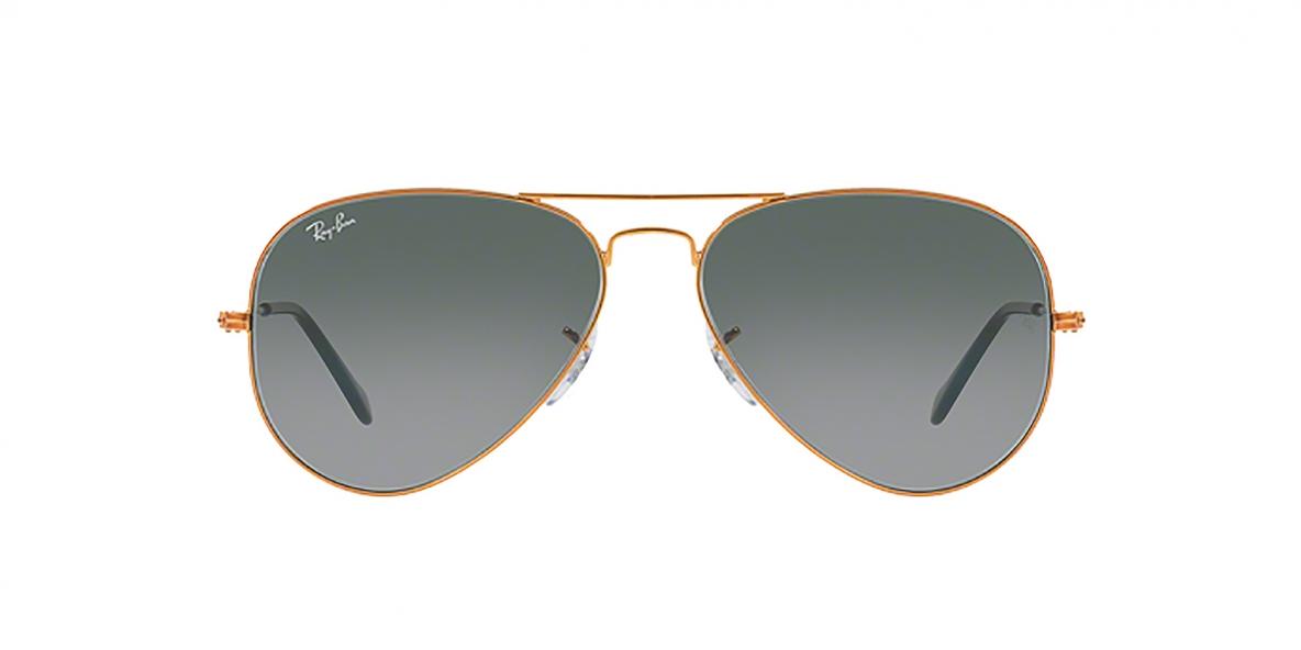 Ray-Ban 3025S 019771 55 عینک آفتابی ریبن خلبانی عدسی دودی