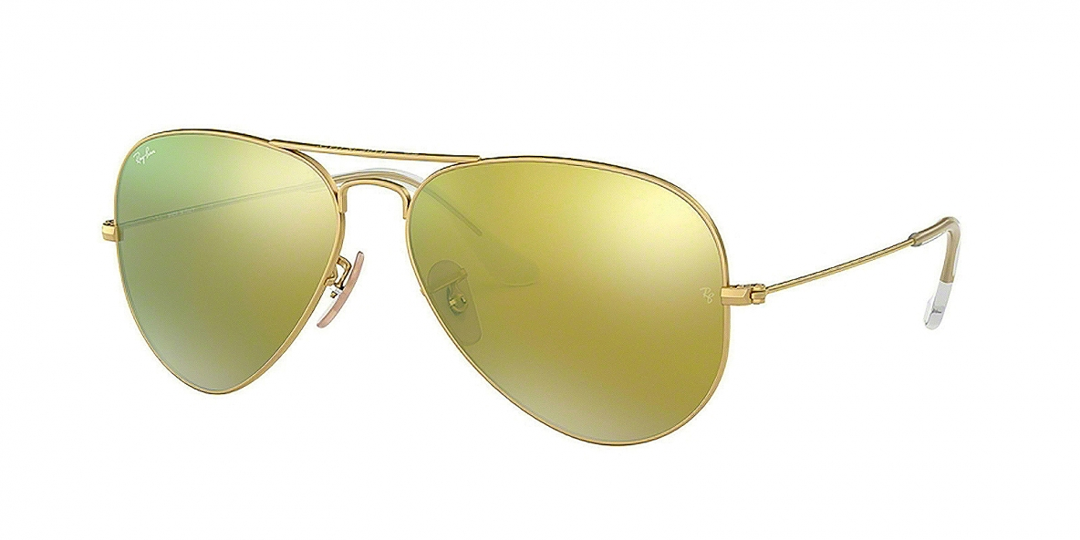 Ray-Ban 3025S 011293 58 عینک آفتابی خلبانی ریبن طلایی کلاسیک