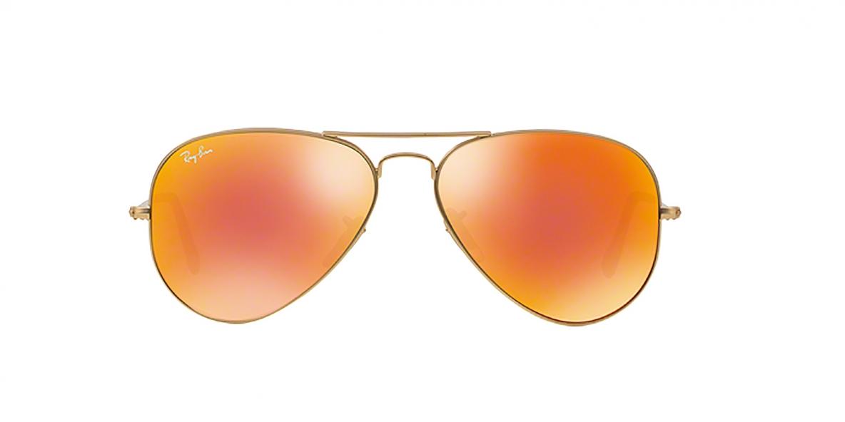 Ray-Ban 3025S 011269 58 عینک آفتابی ریبن خلبانی رفلکس قرمز