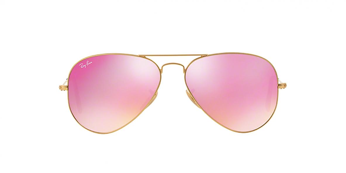 RayBan 3025S 01124T 58 ارغوانی عینک آفتابی خلبانی ریبن