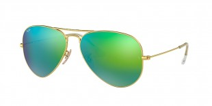 Ray-Ban 3025S 011219 58 عینک آفتابی خلبانی ریبن سبز