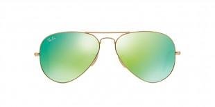 RayBan 3025S 011219 55عینک آفتابی خلبانی کلاسیک سبز ریبن