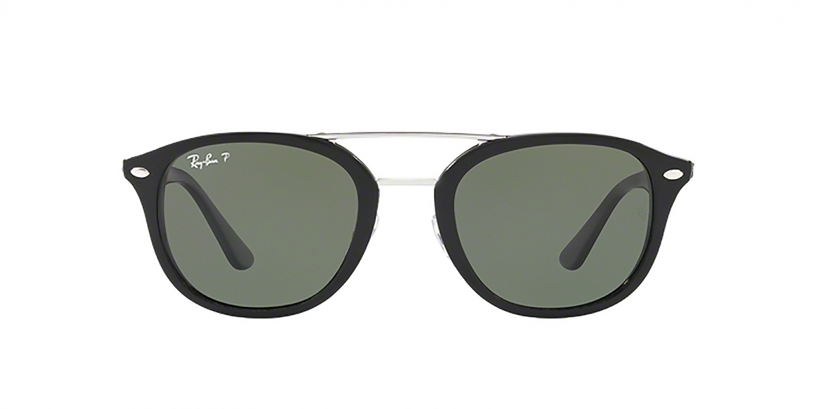 Ray-Ban 2183S 09019A 53 عینک آفتابی ریبن دو پل فلزی مشکی