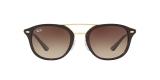 Ray-Ban 2183S 122513 53 عینک آفتابی ریبن دو پل فلزی قهوه ای هاوانا