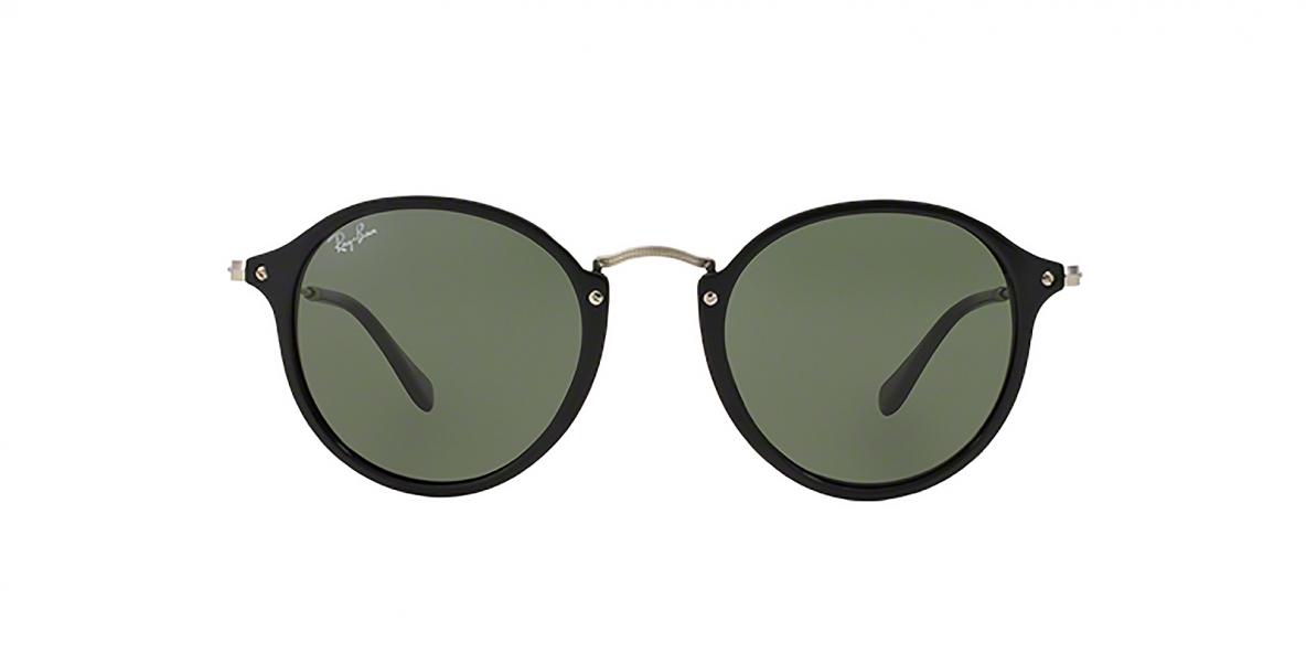 Ray-Ban 2447S 000901 49 عینک آفتابی گرد ریبن با عدسی سبز