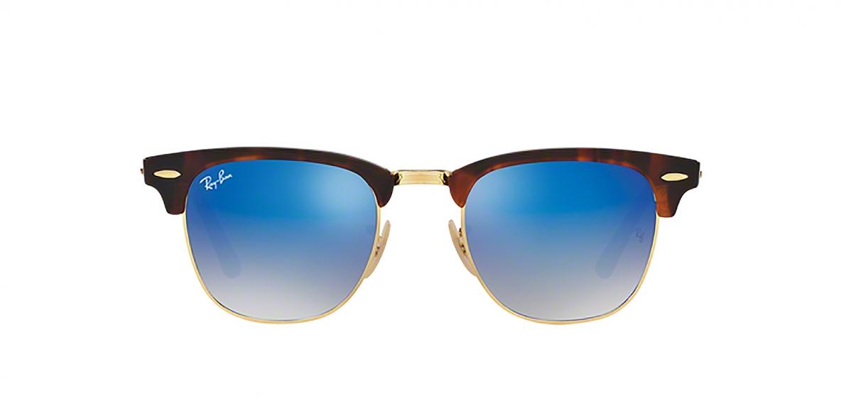 Ray-Ban 3016S 09907Q 51 عینک آفتابی ریبن کلاب مستر با عدسی های آبی