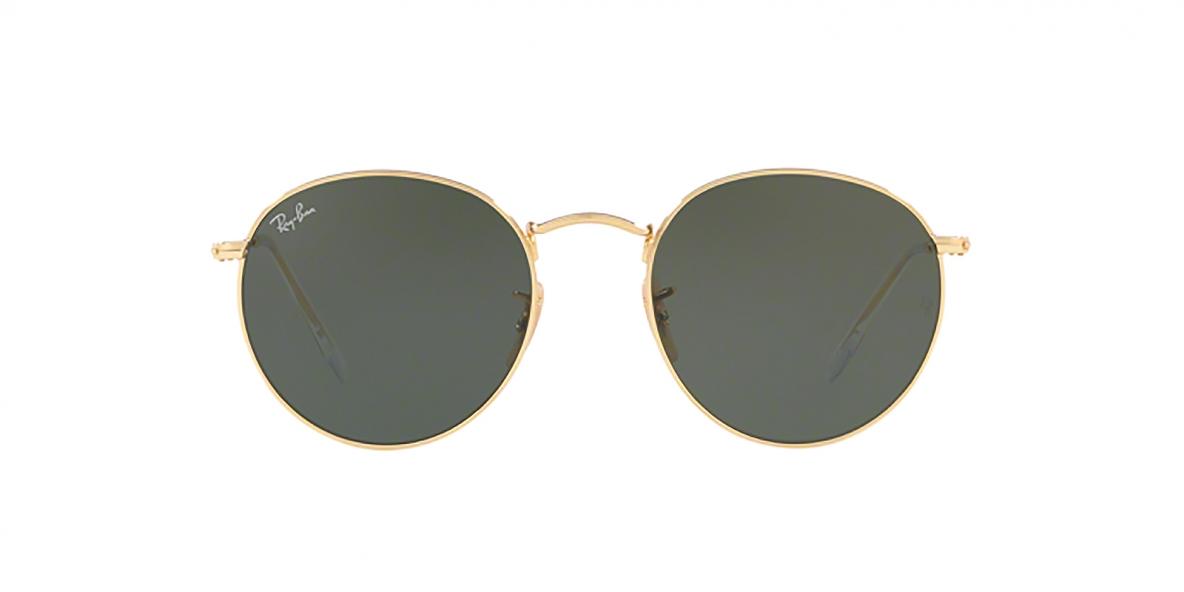 Ray-Ban 3447S 000001 50 عینک آفتابی گرد ریبن با فرم طلایی