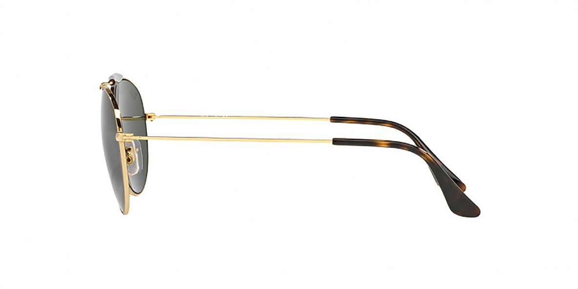 RayBan Sunglass 3540S 000001 53عینک آفتابی گرد ریبن مدل 3540 دو پل فلزی طلایی مناسب خانم ها و آقایان