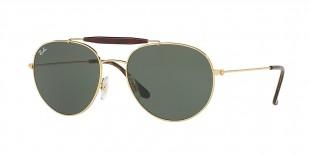 Ray-Ban Sunglass 3540S 000001 53 عینک آفتابی گرد ریبن مدل 3540 دو پل فلزی طلایی مناسب خانم ها و آقایان