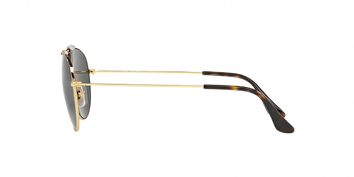 RayBan Sunglass 3540S 000001 56عینک آفتابی ریبن گرد مدل 3540 مناسب خانم ها و آقایان دوپل با عدسی سبز