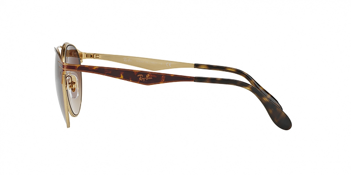 RayBan Sunglass 3545S 900813 54عینک آفتابی ریبن گرد فلزی مدل 3534 قهوه ای مناسب خانم ها و آقایان