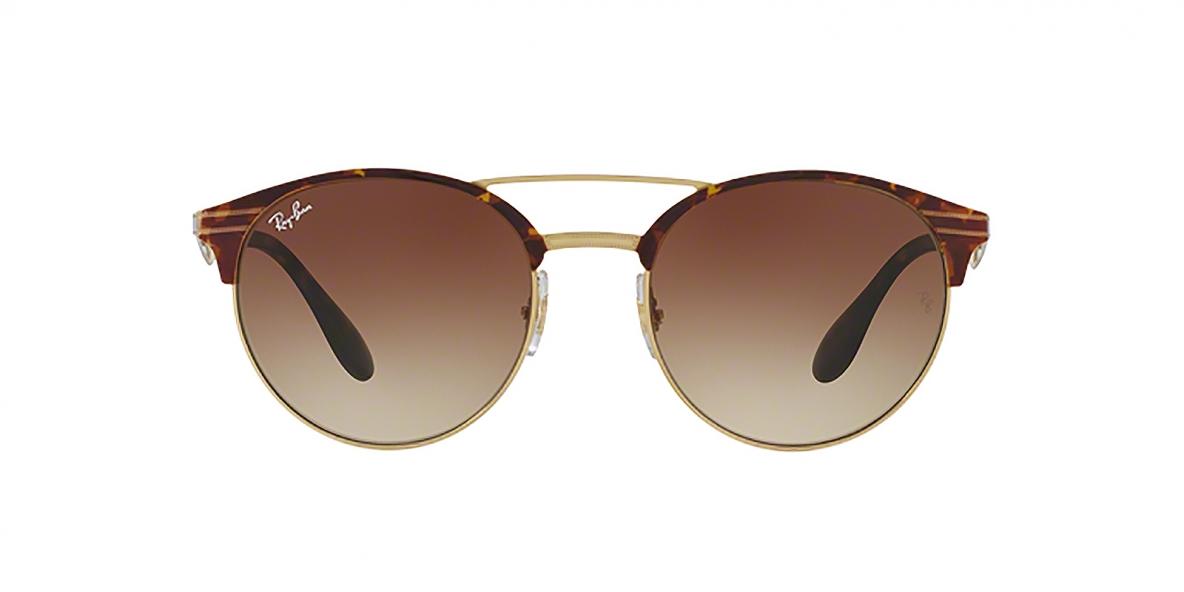Ray-Ban Sunglass 3545S 900813 54 عینک آفتابی ریبن گرد فلزی مدل 3534 قهوه ای مناسب خانم ها و آقایان