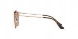 RayBan Sunglass 3546S 009074 49عینک آفتابی ریبن مدل 3546 گرد مناسب خانم ها و آقایان با عدسی قهوه ای