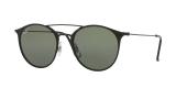 RayBan Sunglass 3546S 01869A 49 عینک آفتابی ریبن گرد فلزی مدل 3546 مناسب خانم ها و آقایان با عدسی سبز پلاریزه