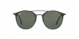 RayBan Sunglass 3546S 000186 49عینک آفتابی ریبن گرد فلزی مدل 3546 مناسب خانم ها و آقایان با عدسی سبز