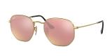 Ray-Ban Sunglass 3548N 0001Z2 51 عینک آفتابی ریبن چند ضلعی مدل 3548 مناسب خانم ها و آقایان با عدسی مسی رنگ آیینه ای