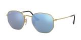 Ray-Ban Sunglass 3548N 00019O 51 عینک آفتابی ریبن چند ضلعی مدل 3548 با عدسی آبی آیینه ای مناسب خانم ها و آقایان