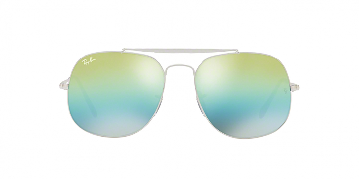RayBan Sunglass 3561S 0003I2 57عینک آفتابی ریبن مدل 3561 مناسب آقایان با عدسی آیین های سبز آبی