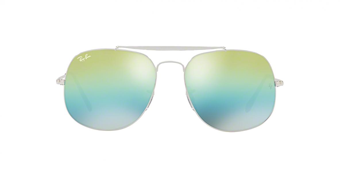 Ray-Ban Sunglass 3561S 0003I2 57عینک آفتابی ریبن مدل 3561 مناسب آقایان با عدسی آیین های سبز آبی