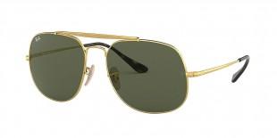 Ray-Ban Sunglass 3561S 000001 57 عینک آفتابی ریبن مدل 3561 ژنرال مناسب آقایان با عدسی سبز