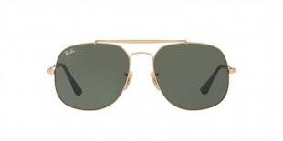 RayBan Sunglass 3561S 000001 57عینک آفتابی ریبن مدل 3561 ژنرال مناسب آقایان با عدسی سبز