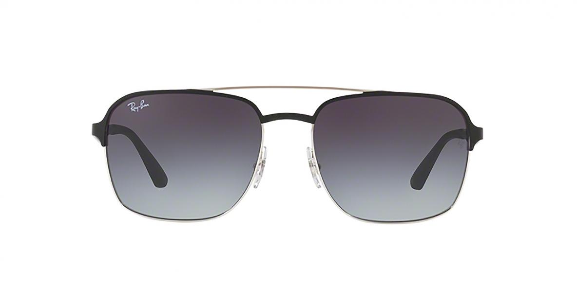 RayBan Sunglass 3570S 90048G 58عینک آفتابی ریبن مربعی مدل 3570 با عدسی دودی مناسب خانم ها و آقایان
