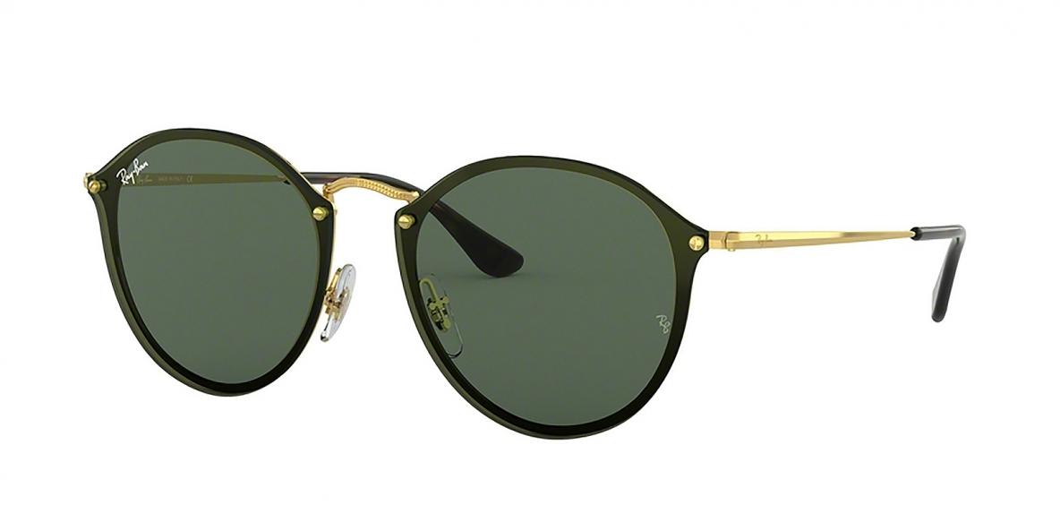Ray-Ban Sunglass 3574N 000171 59 عینک آفتابی ریبن مدل 3574 گرد مناسب خانم ها و آقایان با عدسی سبز تخت
