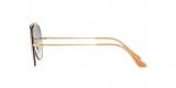 RayBan Sunglass 3584N 000119 61عینک آفتابی ریبن مدل 3584 خلبانی مناسب خانم ها و آقایان با عدسی آبی سایه روشن