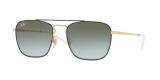 RayBan Sunglass 3588S 9062I7 55عینک آفتابی ریبن مدل 3588 مربعی مناسب آقایان با عدسی سبز آبی سایه روشن