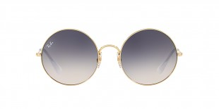 RayBan Sunglass 3592S 0001I9 5550عینک آفتابی گرد ریبن مدل 3592 با عدسی آبی قهوه ای سایه روشن مناسب خانم ها