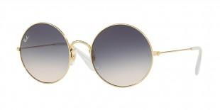 Ray-Ban Sunglass 3592S 0001I9 50 عینک آفتابی ریبن گرد مناسب خانم ها با عدسی آبی قهوه ای سایه روشن