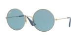 RayBan Sunglass 3592S 0001F7 50عینک آفتابی گرد ریبن مدل 3592 فلزی طلایی با عدسی آبی کم رنگ مناسب خانم ها