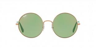 RayBan Sunglass 3592S 9035C7 55عینک آفتابی ریبن گرد مدل 3592 با عدسی سبز و آیینه ای قرمز مناسب خانم ها