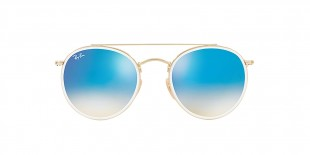 RayBan Sunglass 3647N 00014O 51عینک آفتابی ریبن گرد با عدسی آیینه ای آبی دوپل مناسب خانم ها و آقایان