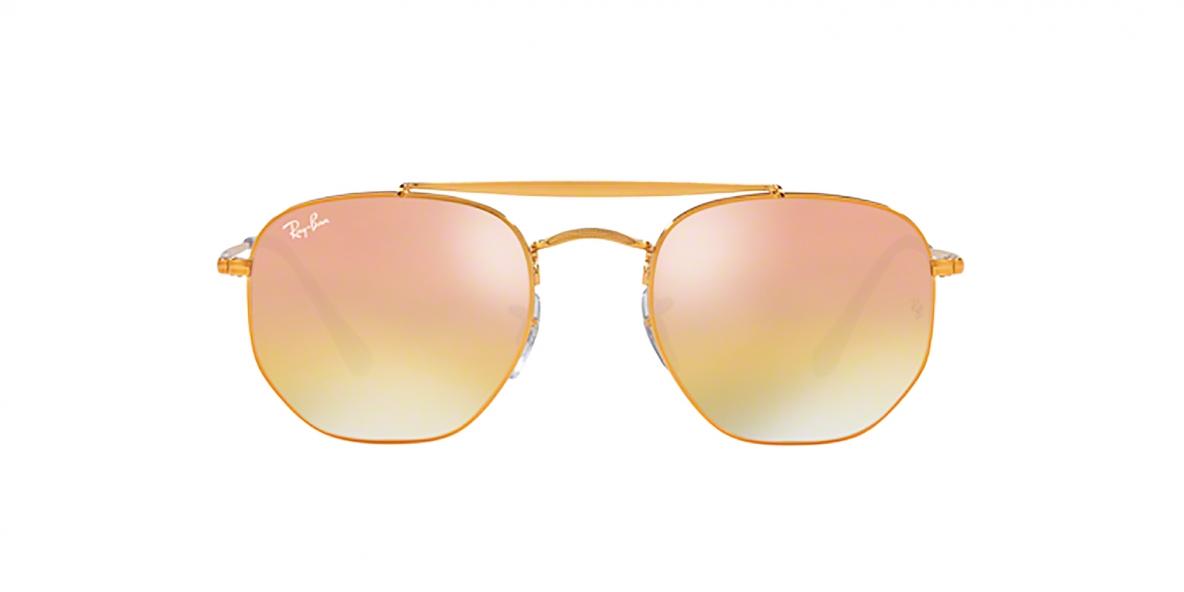 RayBan Sunglass 3648S 9001I1 54عینک آفتابی ریبن مدل 3648 چندضلعی با عدسی آیینه ای مناسب خانم ها و آقایان